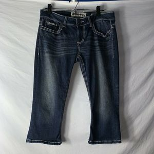 BKE Denim Womens Cropped Capri Blue Jeans Size 29